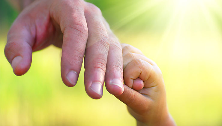 Hand Father Child